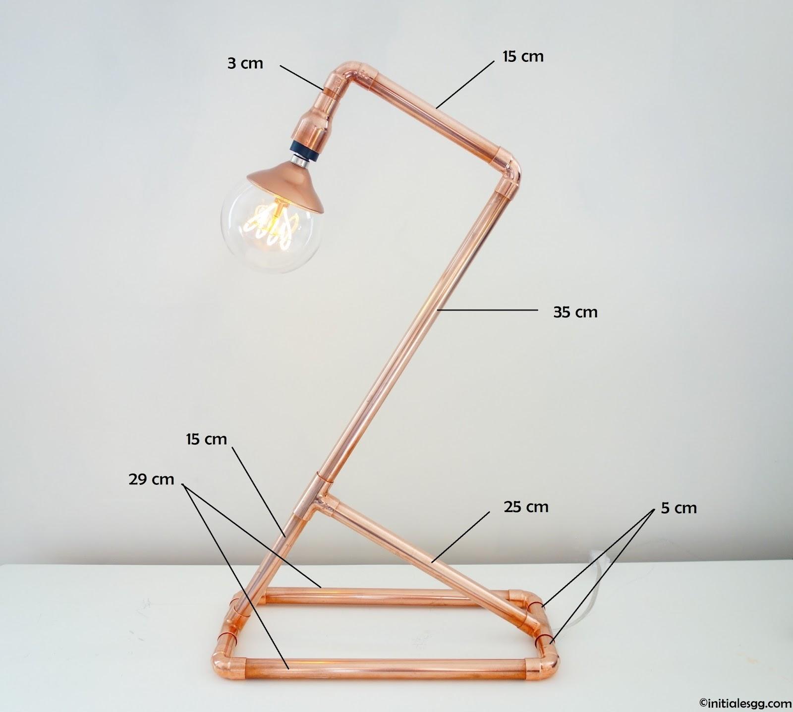 Populaire Initiales GG  : {DIY} Une lampe en cuivre so design ! SM29