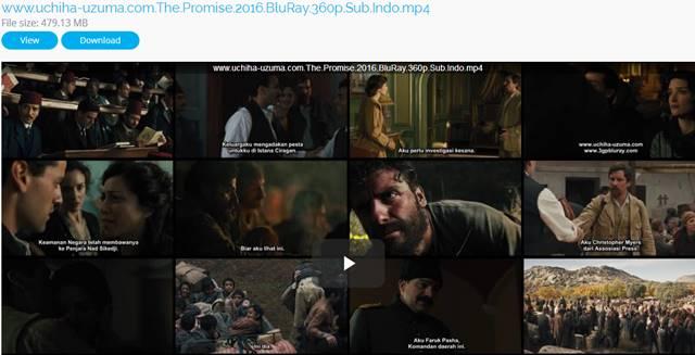 Screenshots Download Film Gratis The Promise (2016) BluRay 360p Subtitle Indonesia 3gp