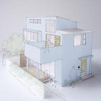 光や風、空と共に暮らす都市型狭小住宅
