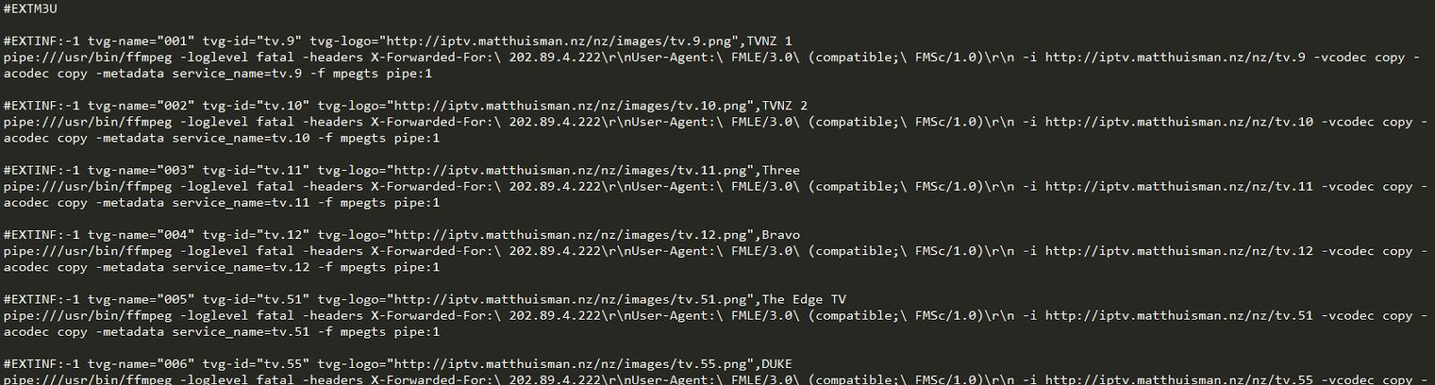 NZ & AU Combined IPTV & EPG Files