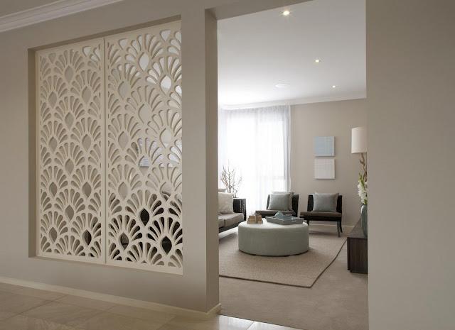 vách ngăn gỗ phòng khách đẹp- mẫu 1