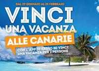 Logo Vinci gratis 9 viaggi alle Canarie per 2 persone