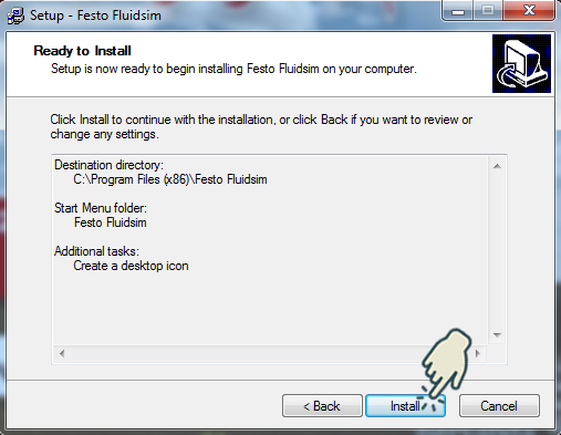 Gambar 8 : Install Festo FluidSIM