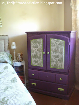 Adding fabric to furniture tutorial