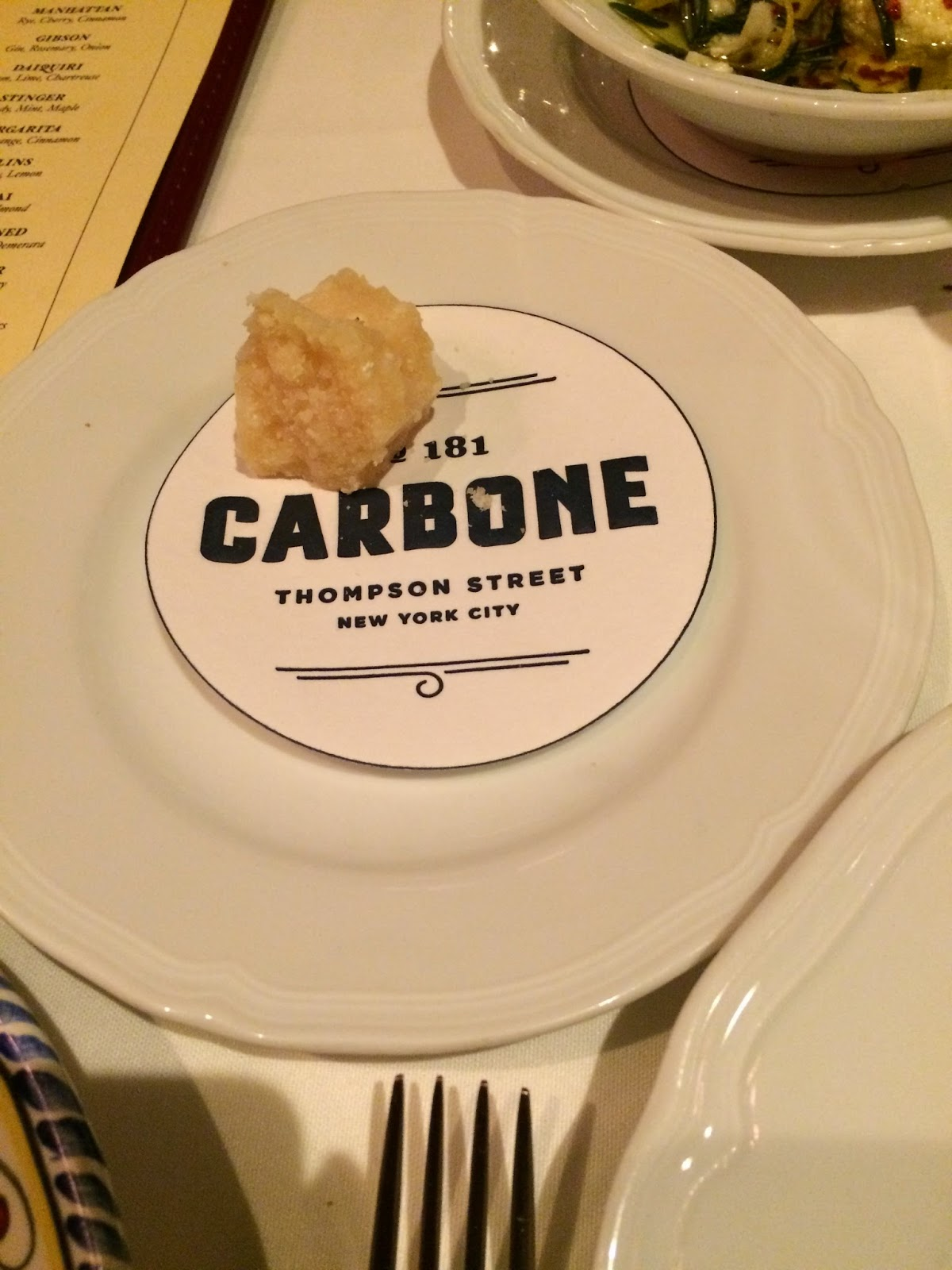 Eating Fabulously, Christopher Stewart, restaurant review, Carbone, Italian, NYC