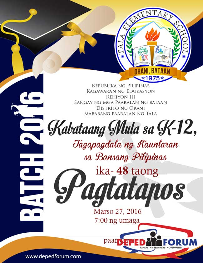 Graduation Programme Design In Publisher Format  Deped LpS