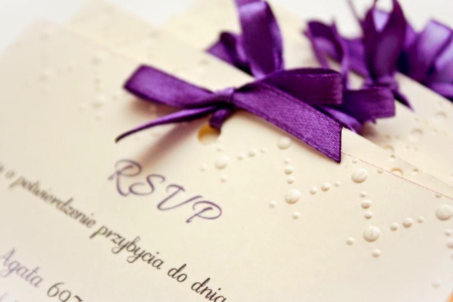 nietypowe wytłaczane zaproszenia ślubne