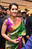 Raashi Khanna in colorful Saree looks stunning at inauguration of South India Shopping Mall at Madinaguda ~  Exclusive Celebrities Galleries 016.jpg