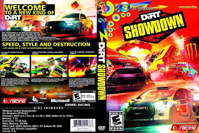 Capa Dirt Showdown PS4