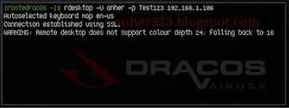 rdesktop -u <username> -p <password> IP <ip-addres-target>