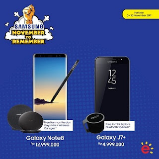 Promo November Samsung Galaxy Note8 dan J7 plus di Erafone