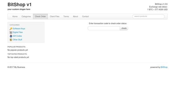 Sell BitShop V1 0 Online Bitcoin Digital Store Script