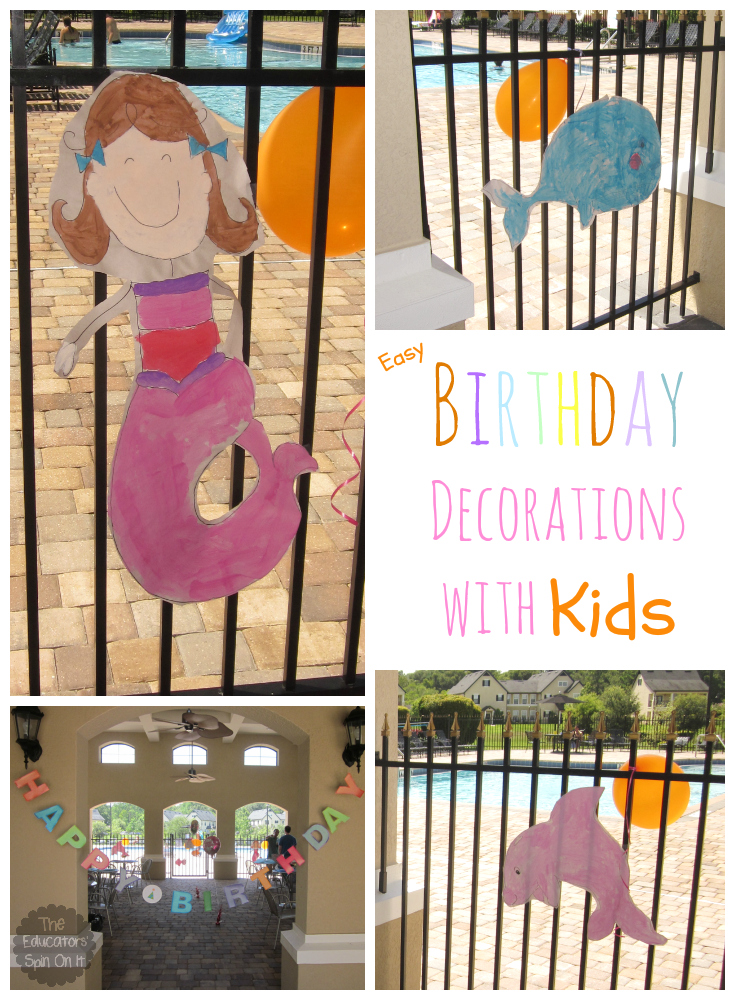 DIY Birthday Party Decorations With Elementary Aged Kids