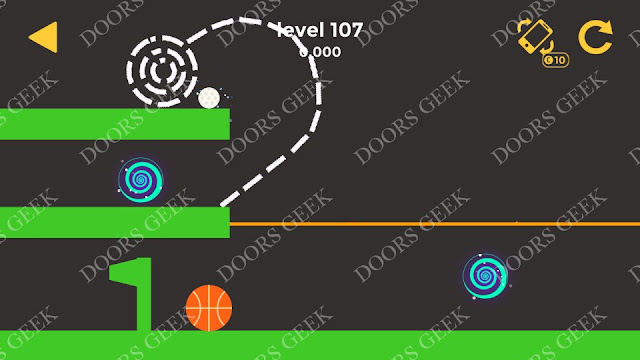 Ball & Ball Level 107 Solution, Walkthrough, Cheats for android and ios