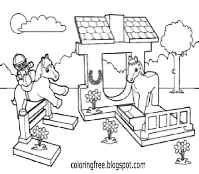 Horse Stables Show Jumping Minifigures House City Lego Friends Coloring Book Pages For Schoolgirls