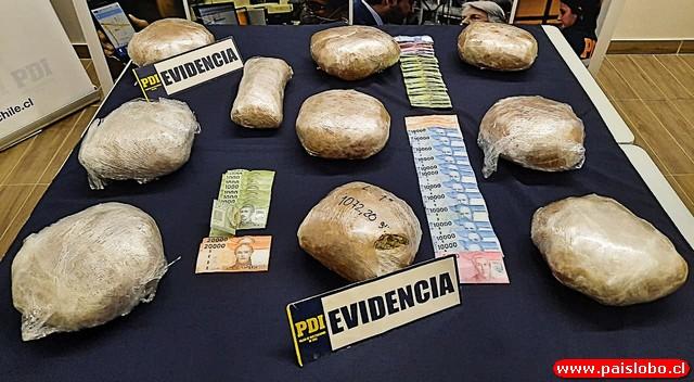 🚨PDI decomisa 10 kilos de droga y detiene a 5 personas