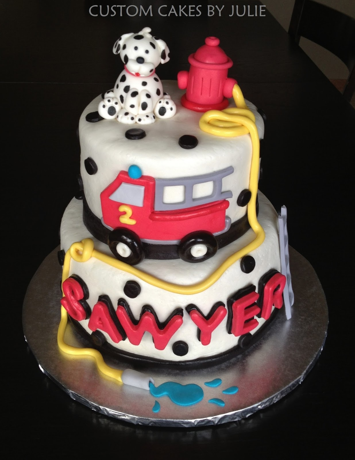 Custom Cakes By Julie Fire Truck Cake