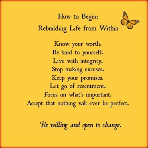 Keeping It Simple Kisbyto Rebuild Your Life Quotes