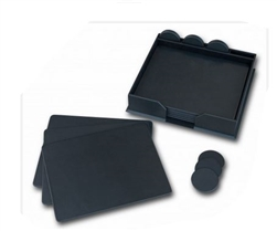 Dacasso Conference Room Pads with Coasters and Holders