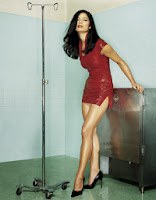 Celebrity legs of actress Jill Hennessy