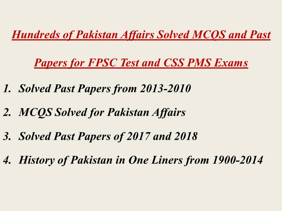 Css past papers 2013