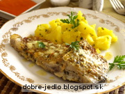 Cesnakový kapor s paprikovou omáčkou - recept