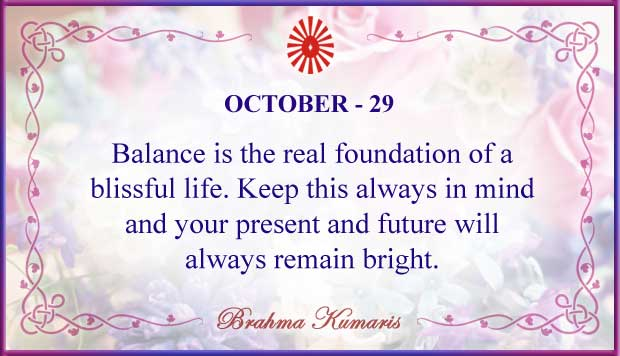 Thought For The Day October 29
