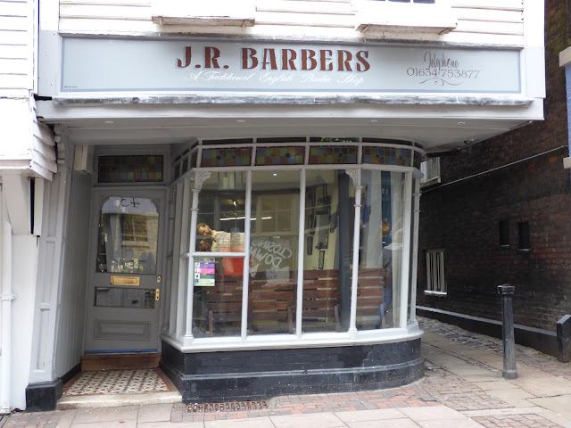 Wonky barber shop, Rochester High Street, Kent