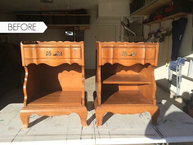 dixie bedroom collection, french provincial nightstands, refinishing furniture, how to paint nightstands, night stands, turquoise nightstands
