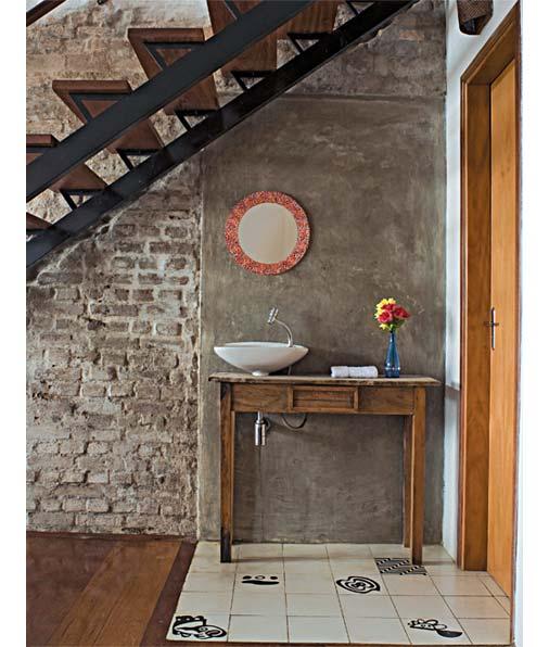 Inspiração para banheiros e lavabos rústicos!  Jeito de Casa  Blog de Decor -> Pia Para Banheiro Rustica