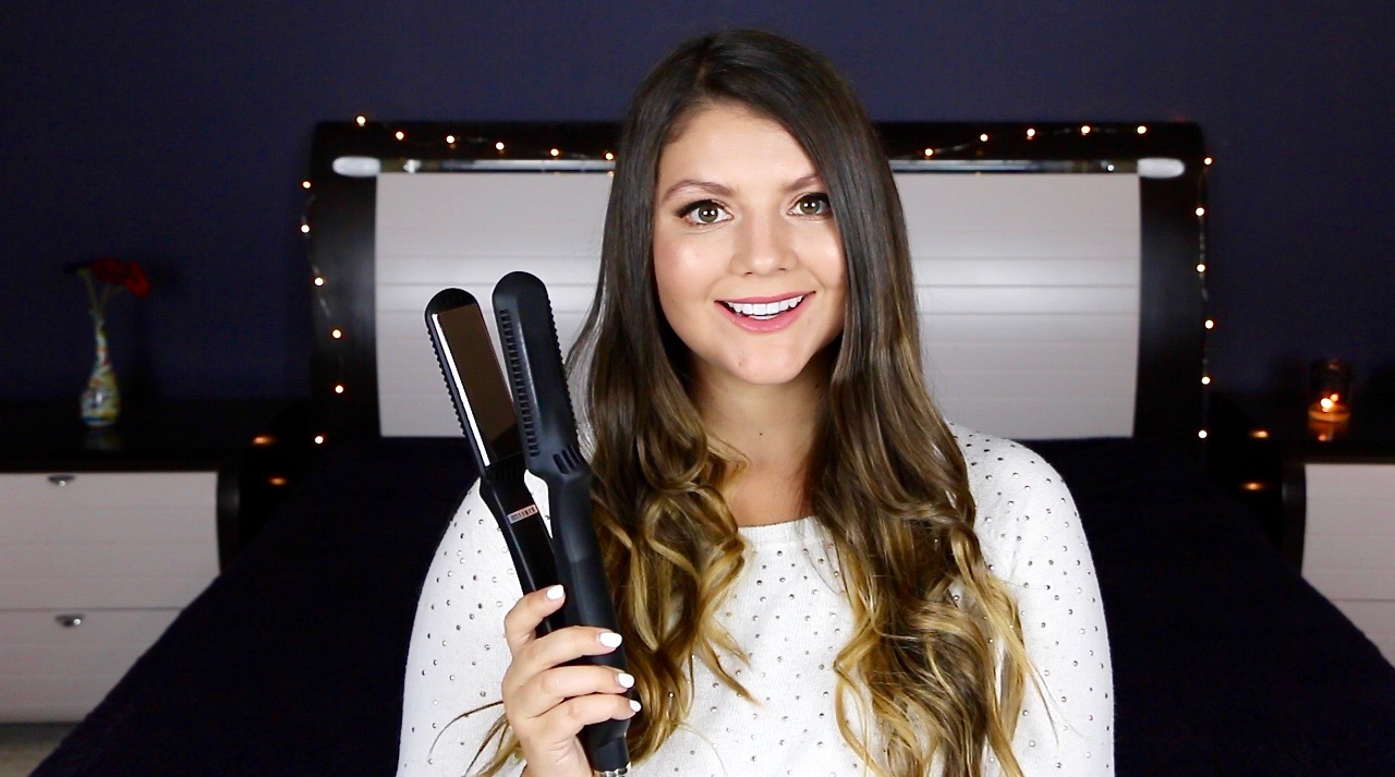 Perfect Wavy Hair With A Straightener Tutorial
