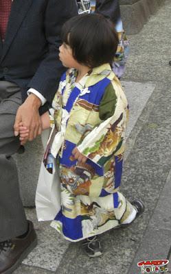 七五三の男児アンティーク着物