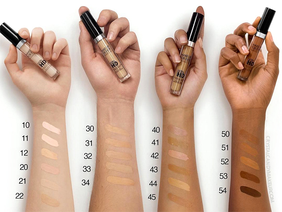 Make Up For Ever Ultra HD Light Capturing Self-Setting Concealer Review Swatches All Shades MUFE