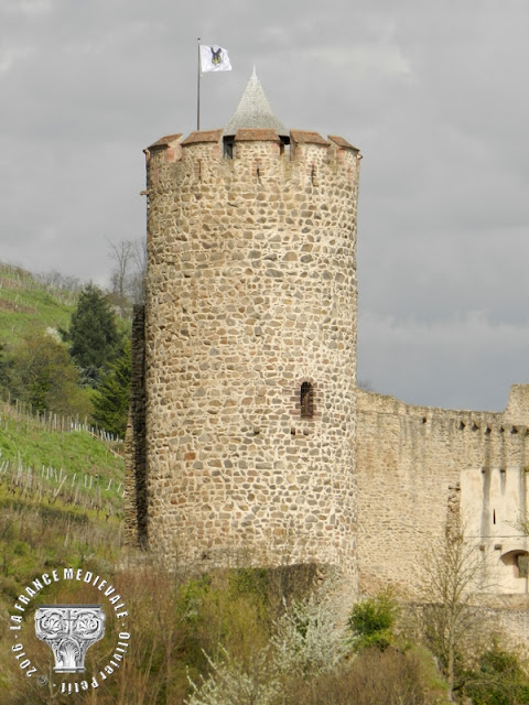 KAYSERSBERG (68) - Le château-fort et les remparts médiévaux