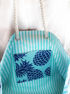 refabulous autumn catch-up post, part 2, eco tote interior, memorial bag