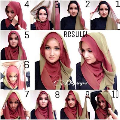 Cara Memakai Hijab Segi Empat Dengan Ciput ninja