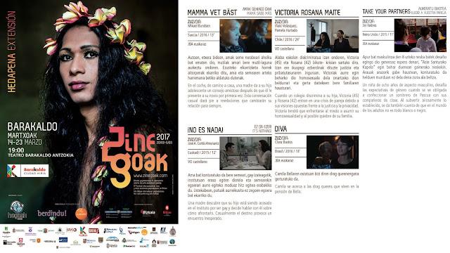 Cartel del festival de cine LGBTI en Barakaldo