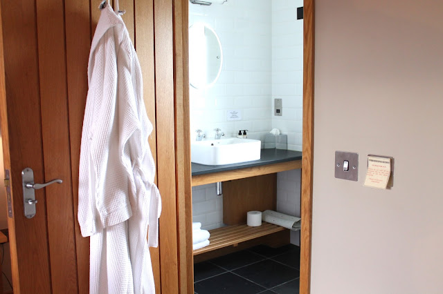 bathroom at the hardwick hotel in abergavenny