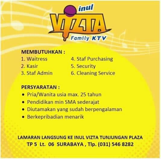 Lowongan Kerja Inul Vista Surabaya