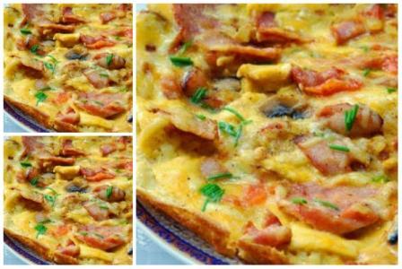 resep omelet nasi kari sosis dan smoke beef praktis untuk