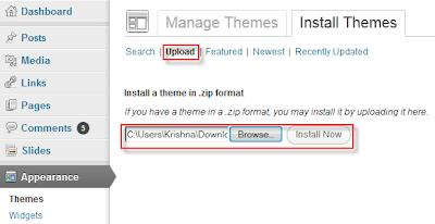 Upload Custom WordPress Themes