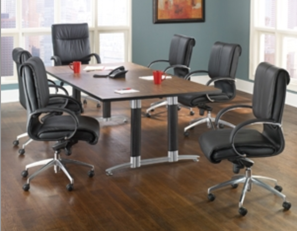 Large Mesh Base Modern Conference Table by OFM