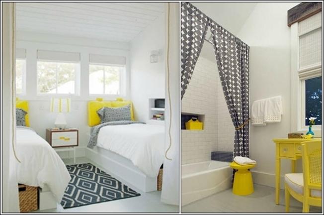 d cor de maison simples avec des touches de couleurs d cor de maison d coration chambre. Black Bedroom Furniture Sets. Home Design Ideas