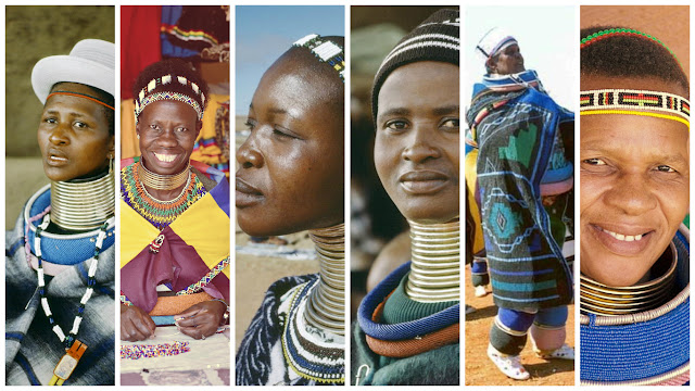 Idzila are Ndebele women elongating rings around neck are traditionally worn by Ndebele wives as a status symbol around her arms, legs and neck.
