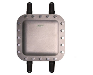 hazardous area wireless access point enclosure with antennas
