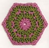 Patrón #1426: Hexágono a Crochet