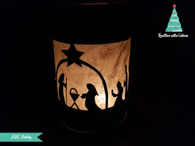 Come realizzare una lanterna con presepe in paper cutting