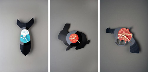 Funky Wall Clock By Pavel Sidorenko