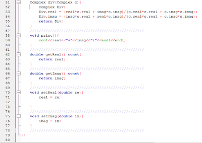 complex number c++ program