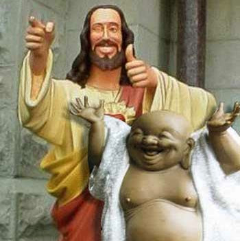 Funny Jesus And His Best Buddhy religious picture
